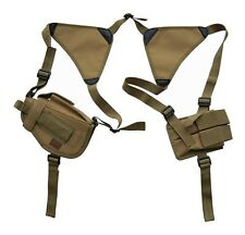 Desert Tan Double Shoulder Holster w/Clip Pouch BB Airsoft Pistol Hand Gun 208TA