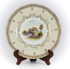 Royal Worcester Porcelain Cabinet Plate of Ragland Castle c1900.