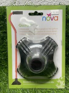 """NOVA Quad Tip Cane Shaft 3/4"""" diameter #10040BK  E5-A"""
