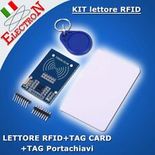 Lettore RFID RC522 Reader 13,56 Mhz KIT con Portachiavi TAG + Card for Arduino