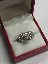 14K WHITE GOLD ROUND DIAMOND ENGAGEMENT WEDDING  BAND RING SET