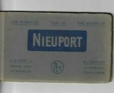 Nieuwpoort Nieuport Les ruines10 postkaarten 6de serie 1914-1918