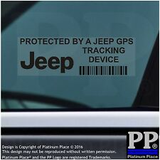 5 x Jeep GPS Tracking Device Security BLACK Stickers-Cherokee-Car Alarm Tracker