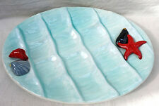 Vintage Vallauris Oyster Platter Server Dish Starfish Shell French Faience 1970