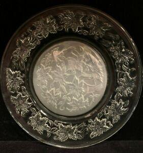"Vintage Princess House Fantasia 10"" Crystal Dinner Plates  Set of 4"