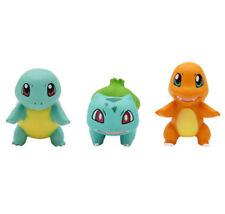 3pcs/Set Pokemon Bulbasaur Charmander Squirtle Figure Figurine