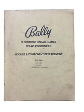 Bally Electronic Pinball Games Repair Procedures Module Component Replacement