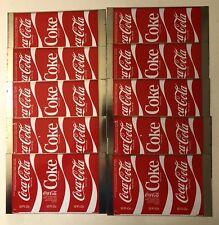 VTG Coca Cola Coke Flat Sheet Unrolled Pop Soda Unused Blank Steel Can~Lot Of 10
