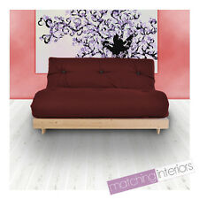 Wine Budget Triple Futon Cotton Mattress 3 Seater Sofabed Sofa Guest Day Bed