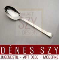 Evald Nielsen Silber Besteck Kongo 32, Art Deco Dessertlöffel Handarbeit Denmark