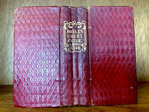1840 BOYLE'S COURT GUIDE  - Victorian Advertisement Book for Nobility and Gentry