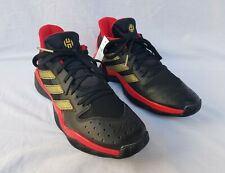 New Adult Adidas James Harden Stepback Basketball Shoes Black with Red & Gold