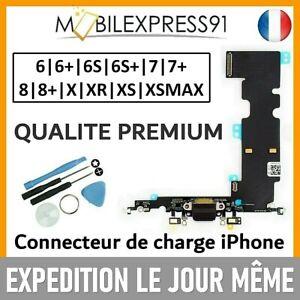 NAPPE CONNECTEUR DE CHARGE DOCK + ANTENNE MICRO IPHONE 6 6S 7 8 PLUS X XR XSMAX
