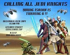 Star Wars Clone Wars Birthday Party Invitations w/env 8pk Personalize Changes OK