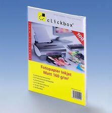 Fotopapier Inkjet Matt 160 g/qm 100 Blatt DIN A4 - für Postkarten geeignet