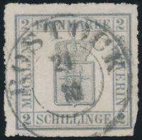 MECKLENBURG-SCHWERIN, MiNr. 6 b, gestempelt, Fotoattest Jäschke-L., Mi. 2000,-