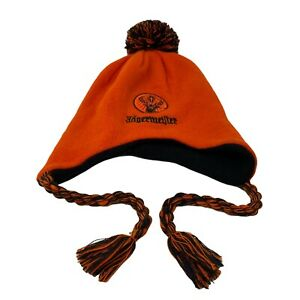 Jagermeister Beanie Bobble Hat Collectors Knit Ski Promo Orange Embroidered