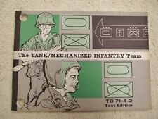 The Tank/Mechanized Infantry Team TC 71-4-2 Test Edition Limited Edition 1974