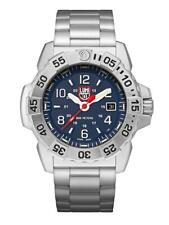 New Luminox Navy Seal 3250 Stainless Steel Blue Dial Men's Diver Watch XS.3254