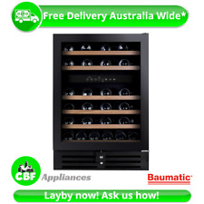 Baumatic BWC646 60cm Wine Storage Cooler 46Btl Chiller Mini Bar Fridge Beer 145L