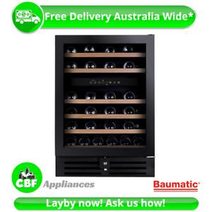 Baumatic BWC646 60cm Wine Storage Cooler 46Btl Chiller Mini Bar Fridge Beer 145L
