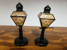 Mid Century Modern Wood Lamp Post New Orleans Salt & Pepper Shakers made Japan