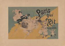 JULES CHERET Paris Qui Rit, France, 1886,  Art Nouveau Belle Epoque Poster