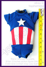 1:6 scale HOT TOYS ACGHK2012 EXCLUSIVE AVERGER CAPTAIN AMERICA SHIRT