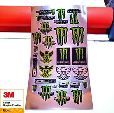 Monster Energy Replica Decals CHROME SPECIAL EDITION -27 Graphics Included!