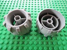 Lego 2 x Reifen Hartplastik 30324 alt hellgrau 7310 7312