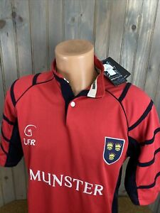 LFR Live for Rugby Ireland Munster SHORT-SLEEVE RUGBY RED JERSEY  Sz Small NWT