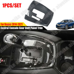 For Nissan Rogue 2014-2021 Carbon ABS Car Central Console Gear Shift Panel Trim