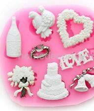 3D Wedding Silicone Fondant Mould Cake Decor Chocolate Bake Mold Sugarcraft