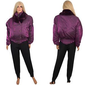 Vtg 90s Nils SKI SUIT 2-pc Purple Iridescent Coat Stirrup Stretch Pants sz 14