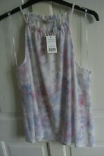 size 8 ladies summer blouse soft pastel top halter neck BNWT George