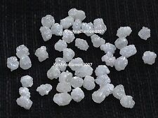 10.00 ct Lot 3.0-4.0 MM Gorgeous Rare Natural Snow White Raw Rough Loose Diamond
