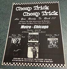 CHEAP TRICK 1998 CHICAGO METRO Concert Handbill Flyer MUSIC FOR HANGOVERS Shows