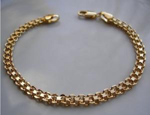 GENUINE 9ct gold bracelet gf bizmark,This is stunning.{ ref 21 }!