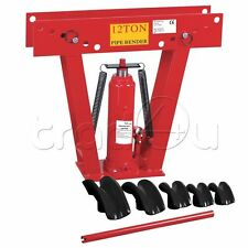 Clarke Strong Arm 12 Ton Hydraulic Pipe Tube Bender C/w 6 Dies & Handle