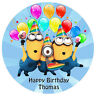 MINIONS PERSONALISED EDIBLE PREMIUM ICING PARTY CAKE DECORATION IMAGE TOPPER