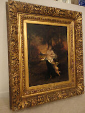 "Narcisse Virgile Diaz de la Pena 19th Century French 32""x28Oil Painting BARGAIN"