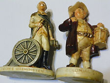 Lot of 2 Pw Baston 1947 George Washsington & 1967 Colonial Watchman figurines