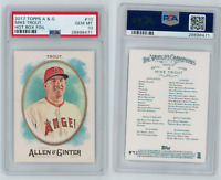 Mike Trout 2017 Topps Allen & Ginter's Hot Box Foil PSA 10 #10