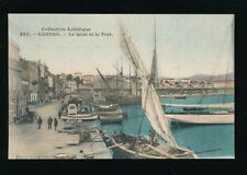 France French Riviera CANNES Quai et Port c1900s PPC