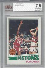 1977 Topps NBA basketball card #61 Bob Lanier, Detroit Pistons graded BVG 7.5
