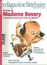 MAGAZINE LITTERAIRE N° 458 / LES VIES DE MADAME BOVARY - FLAUBERT - TASH AW
