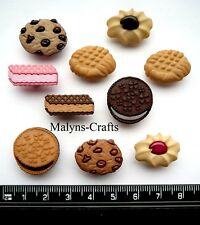 BISCUIT JAR Craft Buttons 1ST CLASS POST Cookie Chocolate Sweet Food Novelty