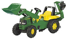 Rolly Toys 811076 Franz Cutter John Deere Pedal Tractor With Loader and Rear
