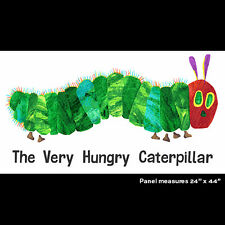 "The Very Hungry Caterpillar Cotton quilt fabric by Andover 25"" x 44"" panel"