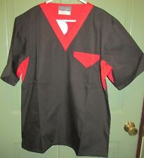 Cook Cool by Happy Chef Unisex Black & Red Short Sleeve Chef Top - Size Xs